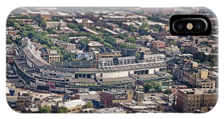 3scape IPhone X Case featuring the photograph Wrigley Field - Home Of The Chicago Cubs by Adam Romanowicz