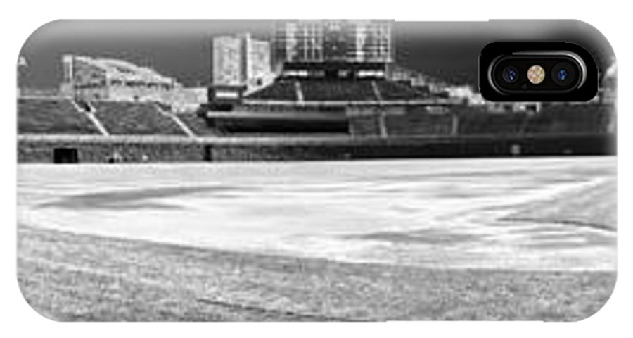 Wrigley Field IPhone X Case featuring the photograph Wrigley Panorama by David Bearden