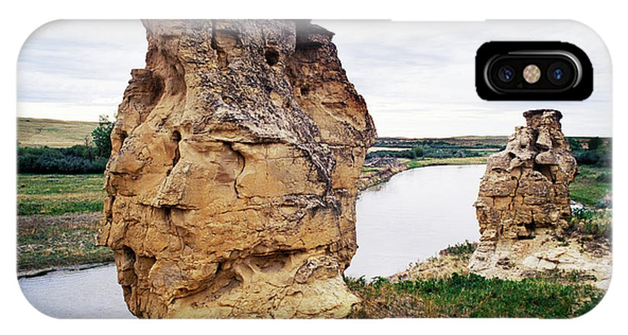 Alberta IPhone X Case featuring the photograph Writing-on-stone Provincial Parks by Todd Korol
