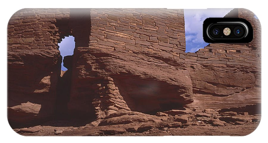 Nature Photography IPhone X / XS Case featuring the photograph Wukoki Ruin 1 by Tom Daniel
