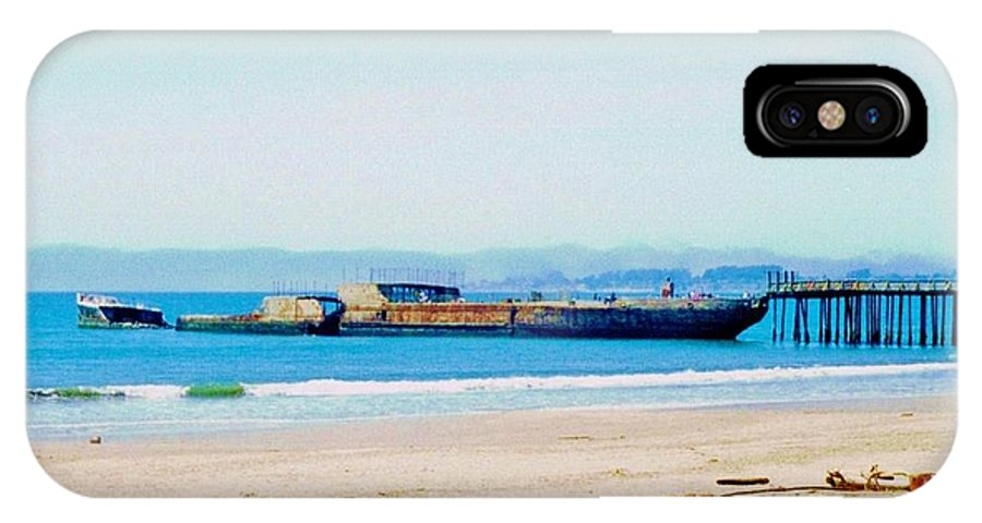 Wwii Ship IPhone X Case featuring the photograph Wwii Ship At Sea Cliff Beach by Peggy Leyva Conley