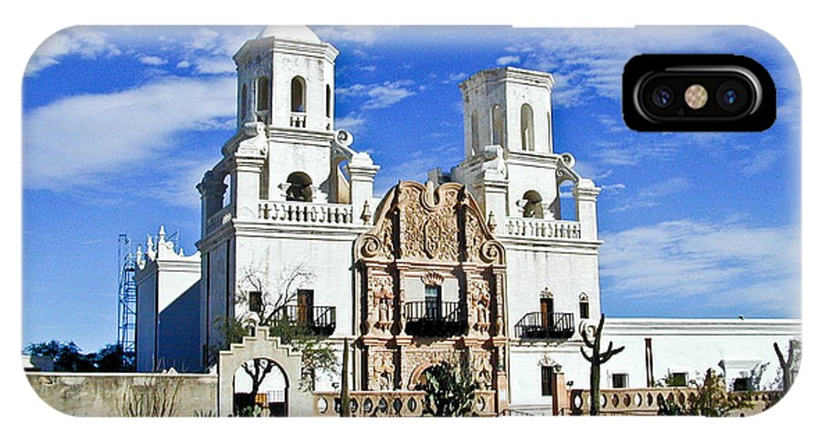Mission San Xavier Del Bac IPhone X Case featuring the photograph Xavier Tucson Arizona by Douglas Barnett