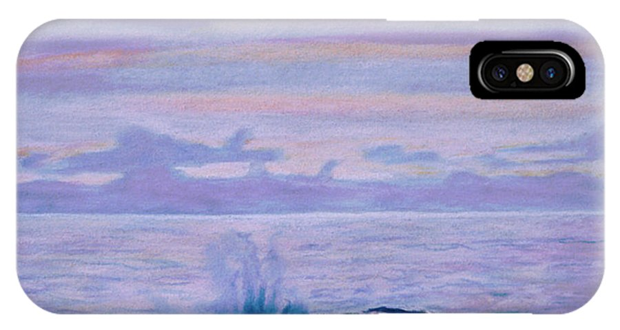 Seascape IPhone X / XS Case featuring the painting Yachats by Jana R Johnson