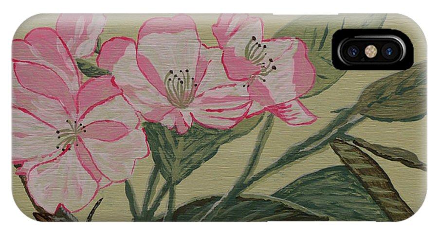 Yamazakura IPhone Case featuring the painting Yamazakura Or Cherry Blossom by Anthony Dunphy