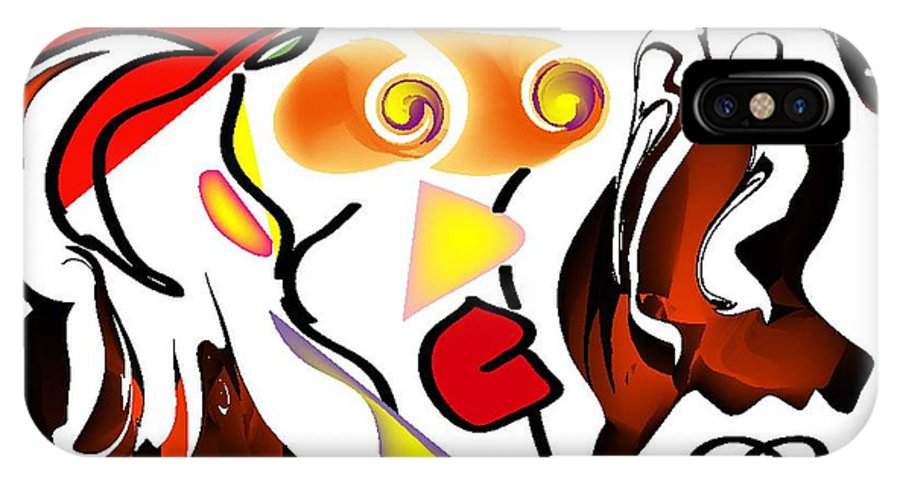 Life's Crazy IPhone X Case featuring the digital art Yanomamo by Andy Cordan