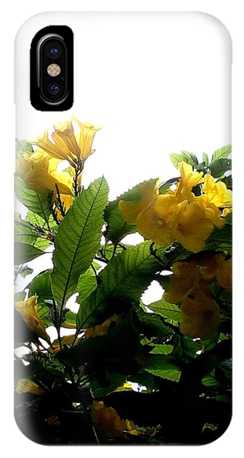 Yellow IPhone X Case featuring the photograph Yellow Bells by Henrich Horvath