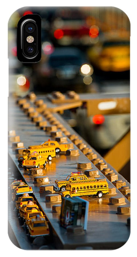 Yellow IPhone X Case featuring the photograph Yellow Cabs by Alyaksandr Stzhalkouski