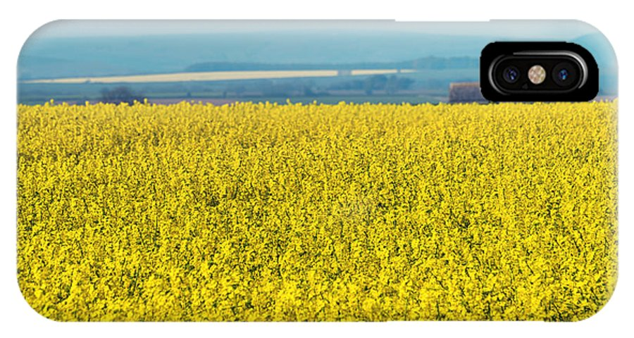 Bloom IPhone X / XS Case featuring the photograph Yellow Field by Svetlana Sewell