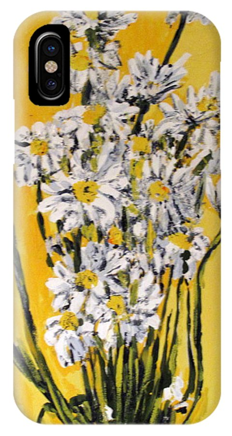 Daisy IPhone Case featuring the painting Yellow by Ian MacDonald