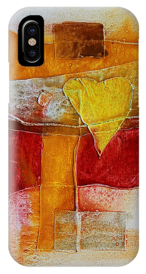 Yellow IPhone X Case featuring the painting Yellow Love 2 by Jorge Berlato