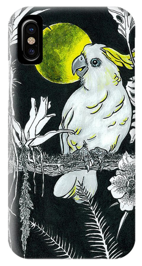 Wildlife IPhone Case featuring the drawing Yellow Moon by Richard Brooks