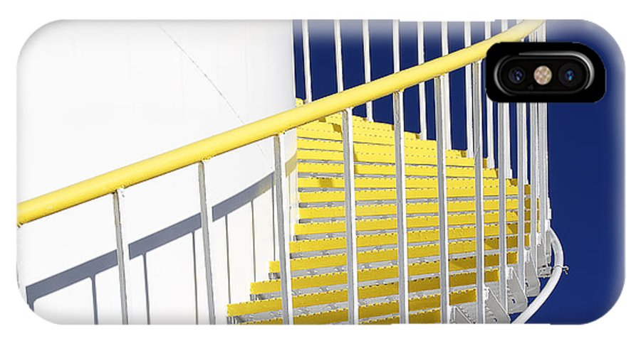 Yellow IPhone X Case featuring the photograph Yellow Steps 2 by Robert Woodward