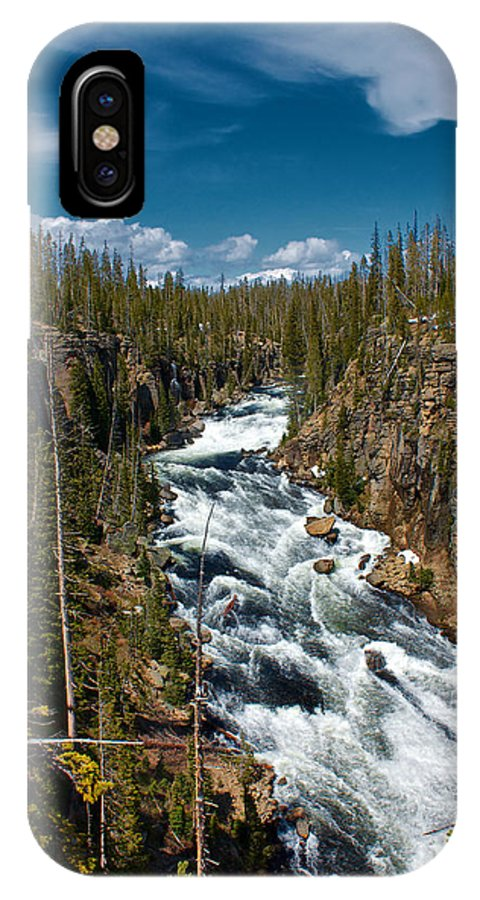 Lewis River IPhone X Case featuring the photograph Yellowstone National Park Lewis River by Joey Lax-Salinas