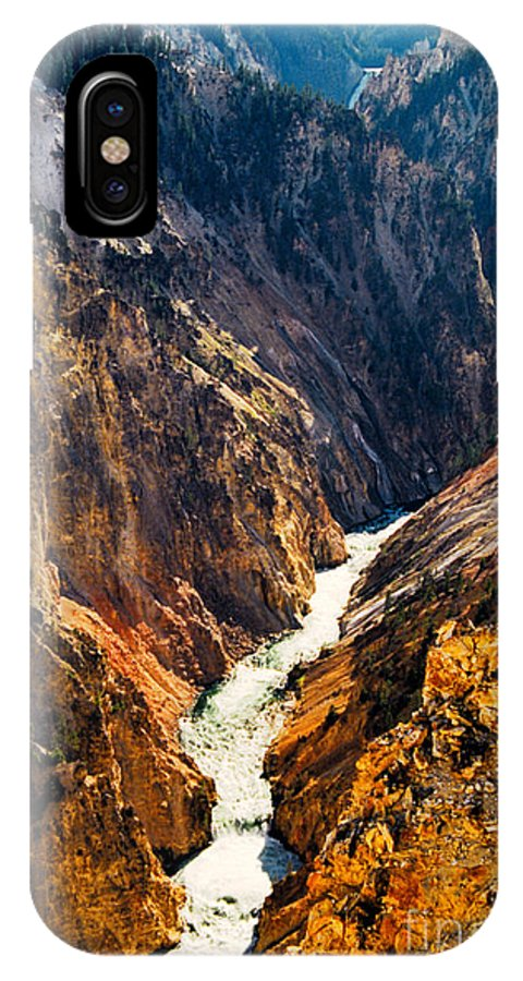 Yellowstone IPhone X / XS Case featuring the photograph Yellowstone River by Kathy McClure