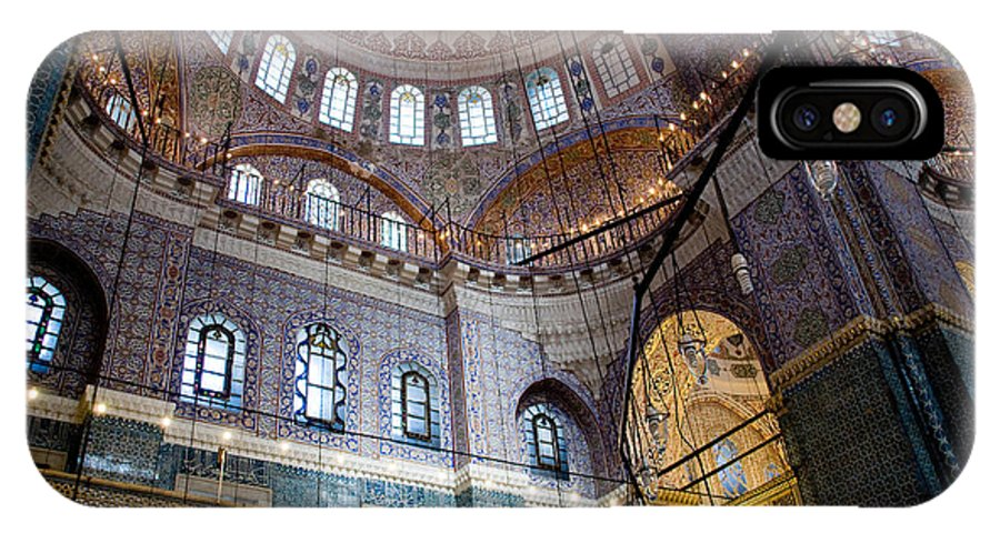 Yeni Valide Camii IPhone X Case featuring the digital art Yeni Valide Camii Mosque Istanbul Turkey by Dray Van Beeck