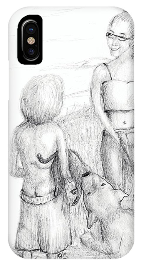 Cat And Dog IPhone X Case featuring the photograph Yes Dear? by Diane Mitchell