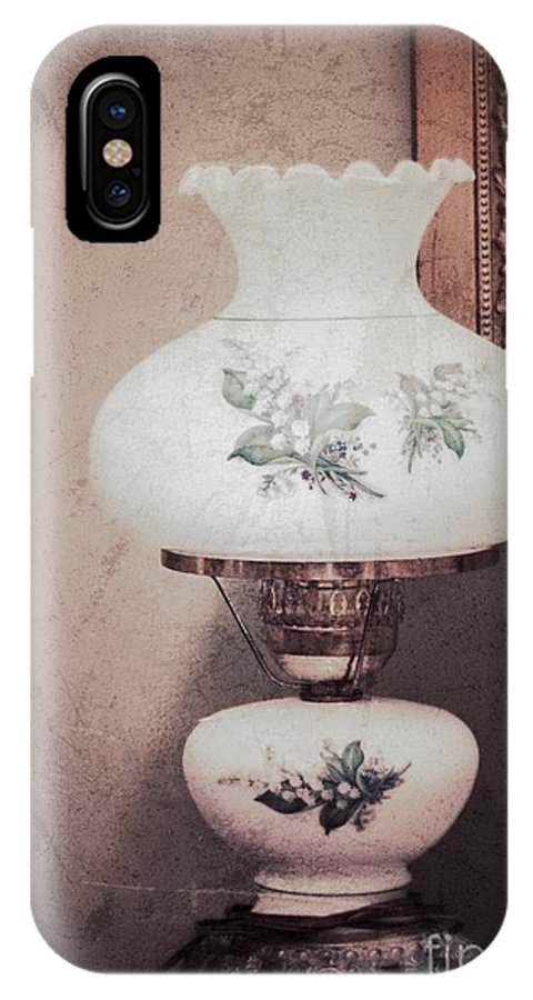 Old Lamp IPhone X Case featuring the photograph Yesteryear by Carolyn Fox