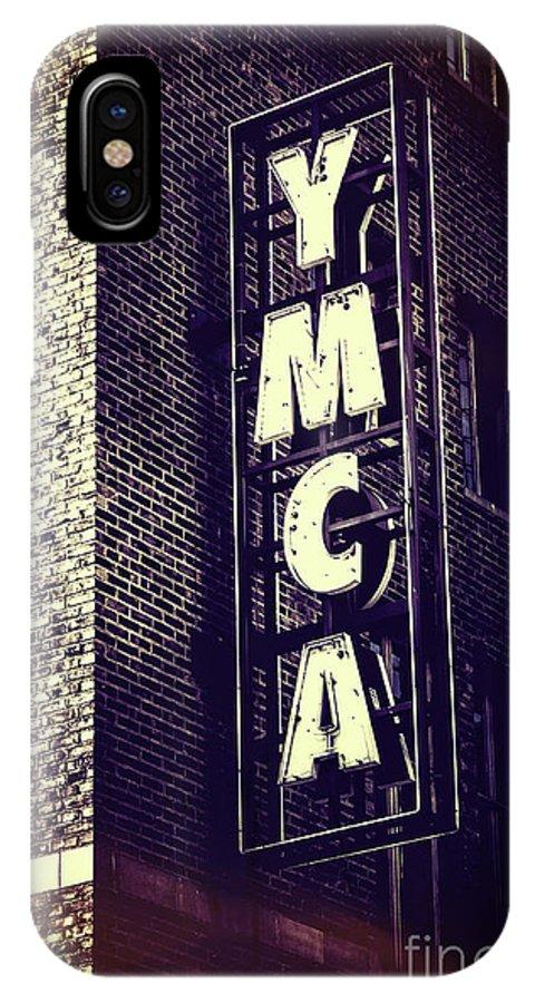Ymca IPhone X Case featuring the digital art Ymca Seattle by Scott Mullin