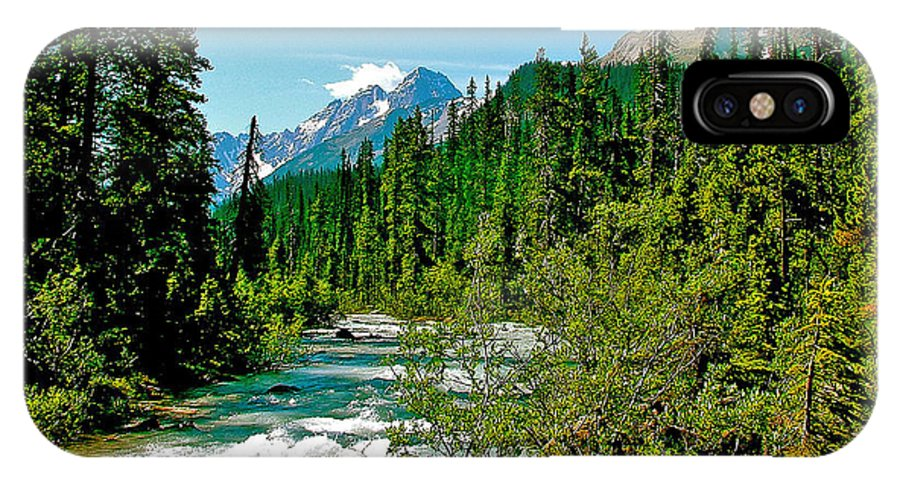 Yoho River In Yoho Np IPhone X Case featuring the photograph Yoho River In Yoho Np-bc by Ruth Hager
