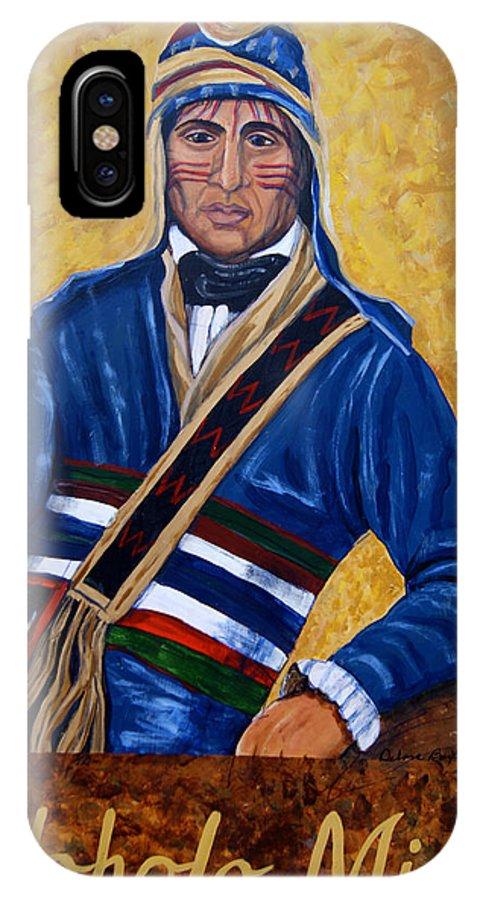 Yoholo Micco; Creek Indians; Creek Indian Chief; Eufaula IPhone X Case featuring the painting Yoholo Micco by Debora Baxter Jackson