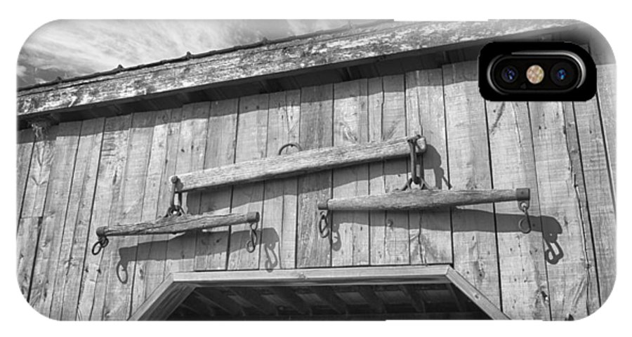 Barn IPhone X Case featuring the photograph Yoke 7p01958b by Guy Whiteley