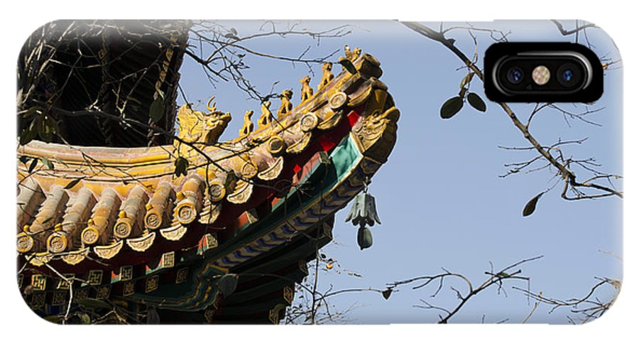 Buddhism IPhone X Case featuring the photograph Yonghegong Temple 9108 by Terri Winkler