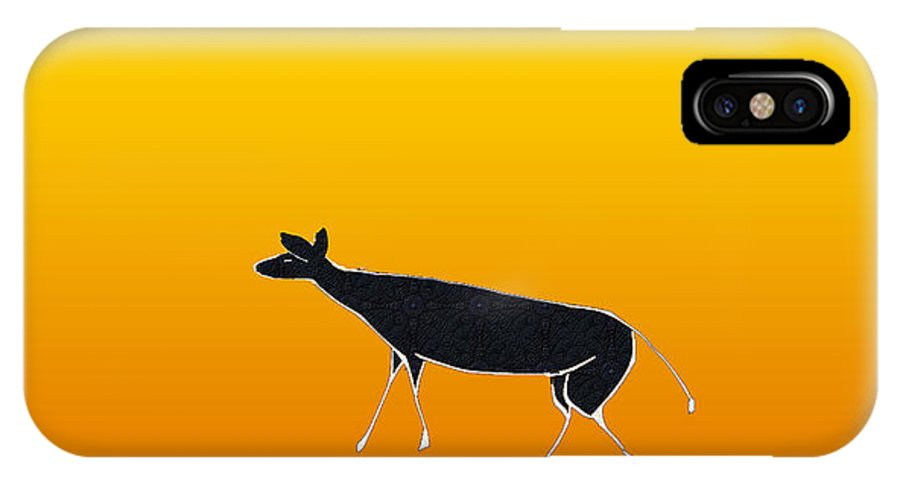 Impala IPhone X Case featuring the digital art Young Antelope by Asok Mukhopadhyay