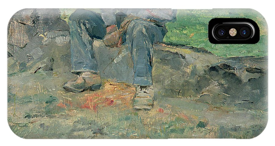 Man IPhone X Case featuring the painting Young Routy At Celeyran by Henri de Toulouse-Lautrec