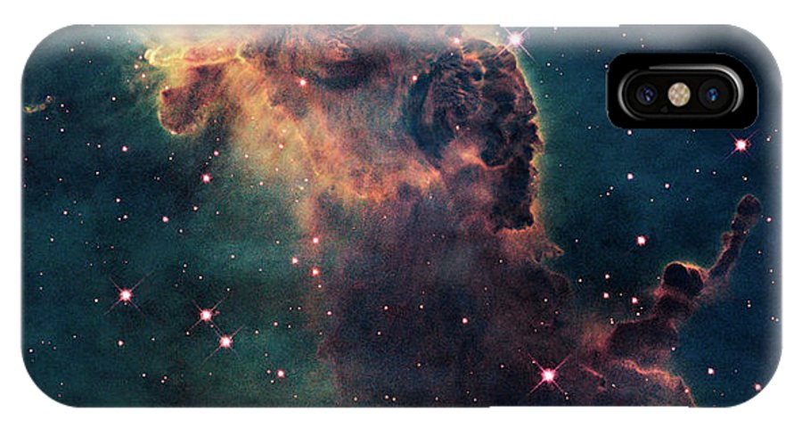 Outdoors IPhone X Case featuring the photograph Young Stars Flare In The Carina Nebula by Nasa/esa