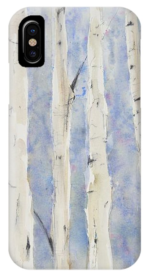 Birch IPhone X Case featuring the painting Your Awash In All Its Glow by Tamara Gonda