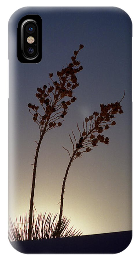 Landscape IPhone X / XS Case featuring the photograph Yucca Sillhouette by Jeannette Wood