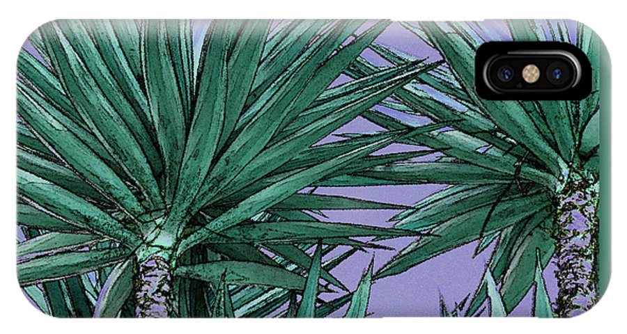 Yucca IPhone X Case featuring the photograph Yucca Tops by Ben and Raisa Gertsberg