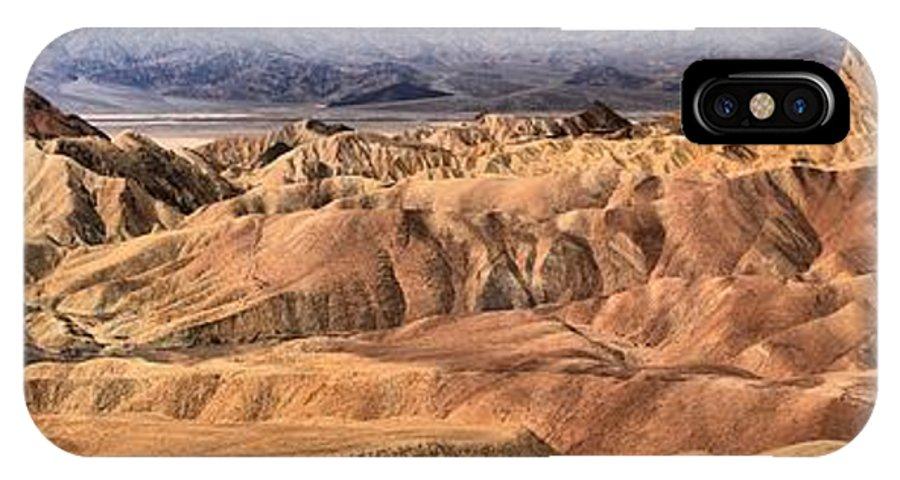 Zabriskie Point IPhone X Case featuring the photograph Zabriskie Point Panorama 2 by Adam Jewell