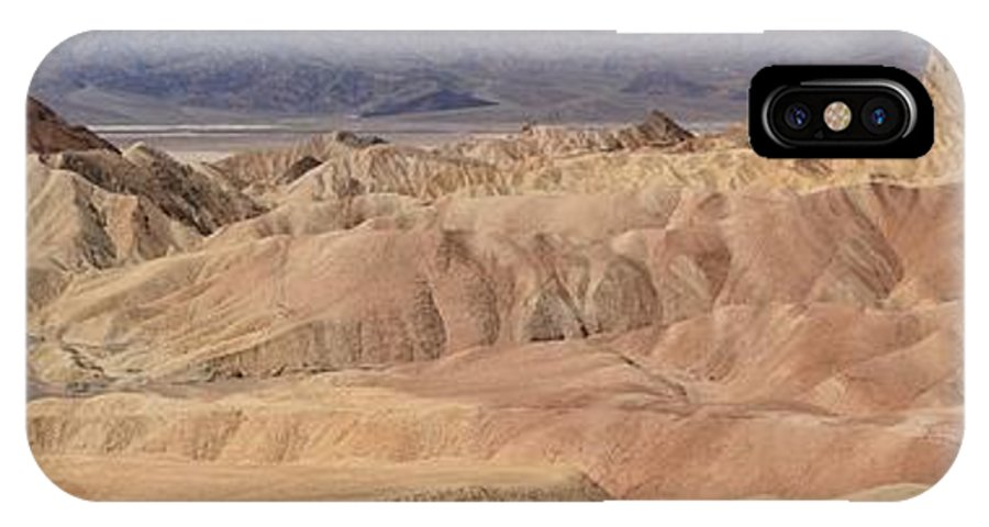 Zabriskie Point IPhone X Case featuring the photograph Zabriskie Point Panorama by Adam Jewell