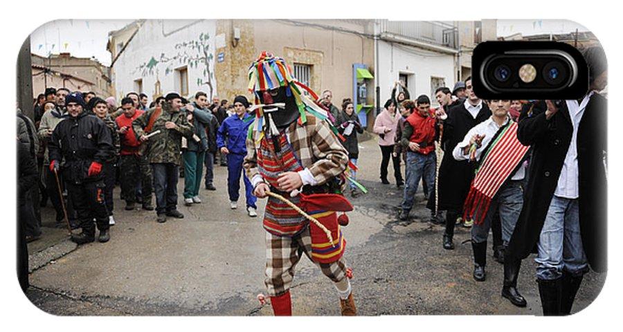 Spain IPhone X Case featuring the photograph Zangarron Mascarade 5 by Rafa Rivas