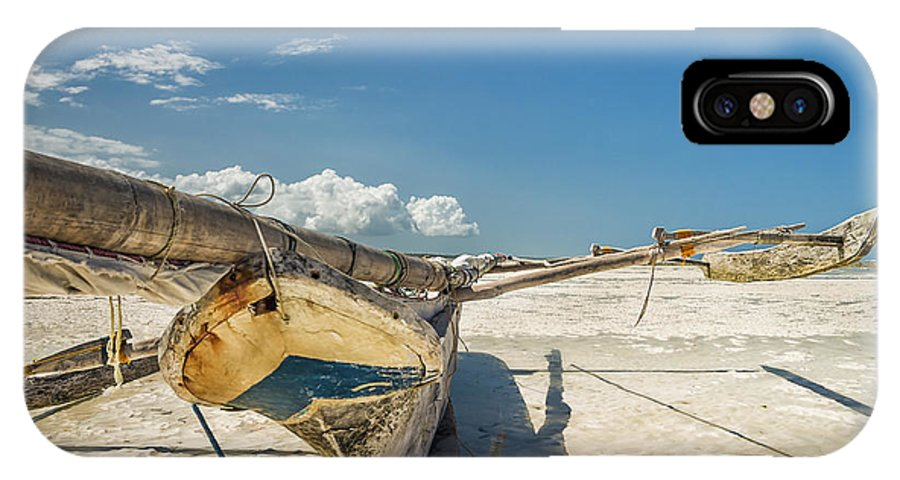 3scape IPhone X Case featuring the photograph Zanzibar Outrigger by Adam Romanowicz