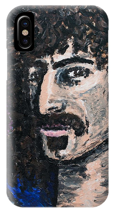 Portrait IPhone X Case featuring the painting Zappa by Anne Abbott