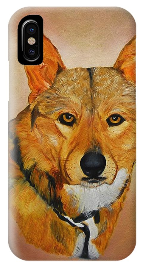Animals IPhone X Case featuring the painting Zavious by Quwatha Valentine