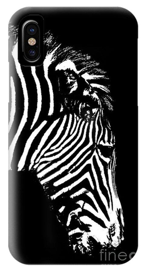 Zebra IPhone X Case featuring the photograph Ze Bra by Sheila Laurens