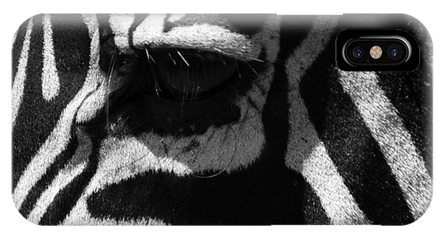 Africa IPhone X Case featuring the photograph Zebra Eye by Aidan Moran