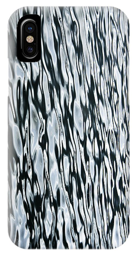 Water IPhone X Case featuring the photograph Zebra Structure by Minartesia