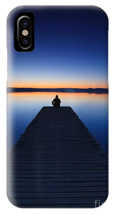 Man IPhone X Case featuring the photograph Zen by Matteo Colombo