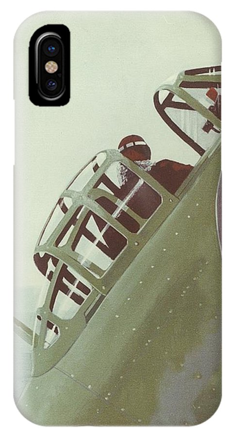 Ww2 Japanese Zero Fighter IPhone X / XS Case featuring the painting Zero Pilot by Richard La Motte
