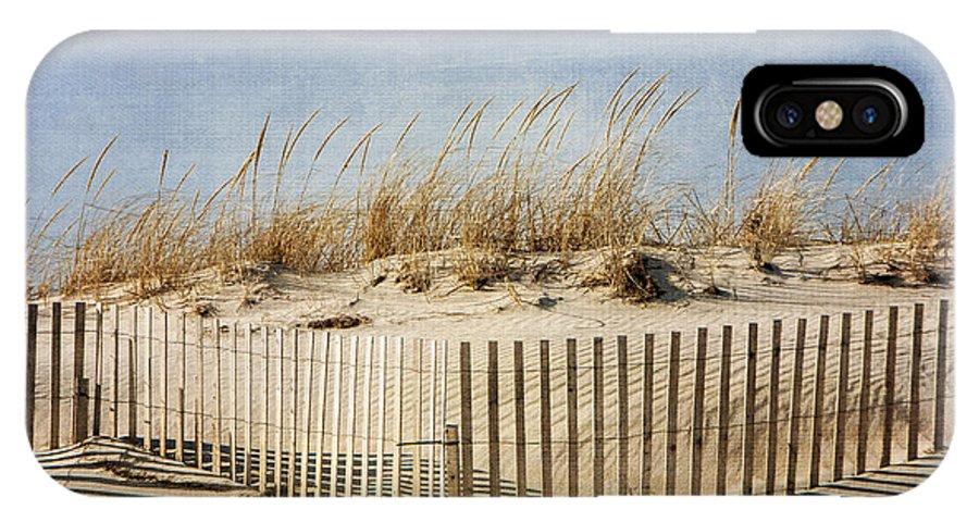 Beach IPhone X Case featuring the photograph Zig Zag Beach by Cathy Kovarik