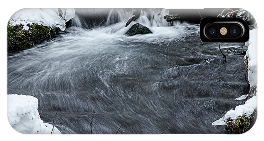 Stream IPhone X Case featuring the photograph Zig Zag Creek by Tahnee-Wesley Grant