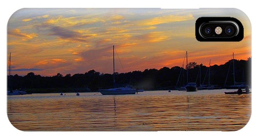 Sunsets IPhone X Case featuring the photograph Zig Zag Sky by Elizabeth Dow