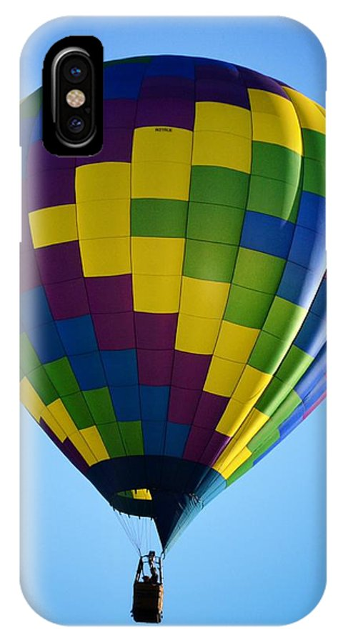 Hot Air Balloon IPhone X Case featuring the photograph Zigzag by Heather Reichel