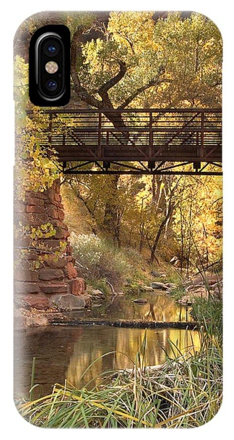 3scape IPhone X Case featuring the photograph Zion Bridge by Adam Romanowicz