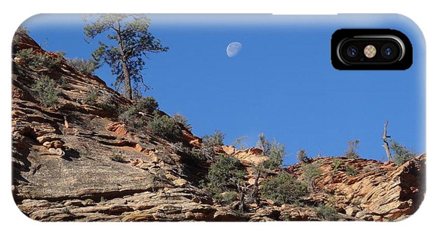 Zion National Park Moonrise IPhone X Case featuring the photograph Zion National Park Moonrise by Dan Sproul