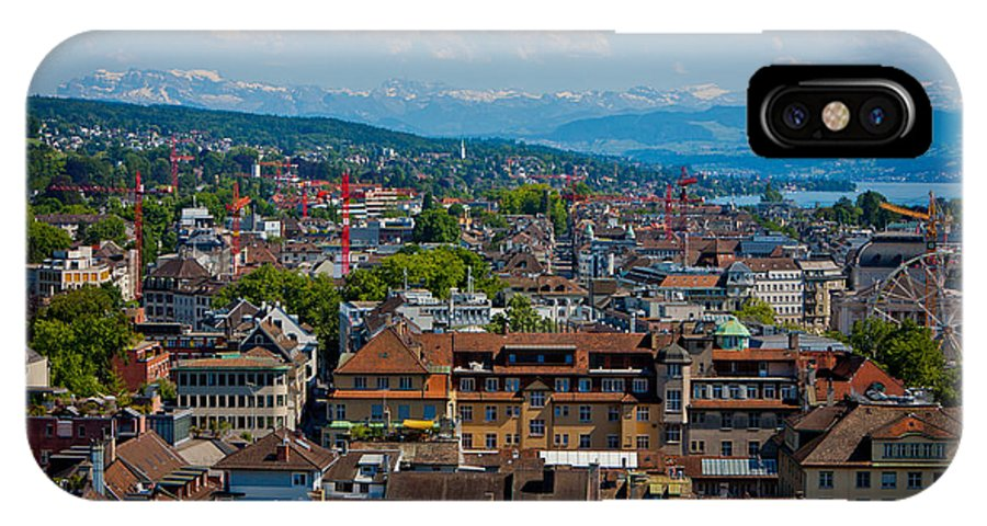 Switzerland IPhone X Case featuring the photograph Zurich From The Grossmunster by Anthony Doudt